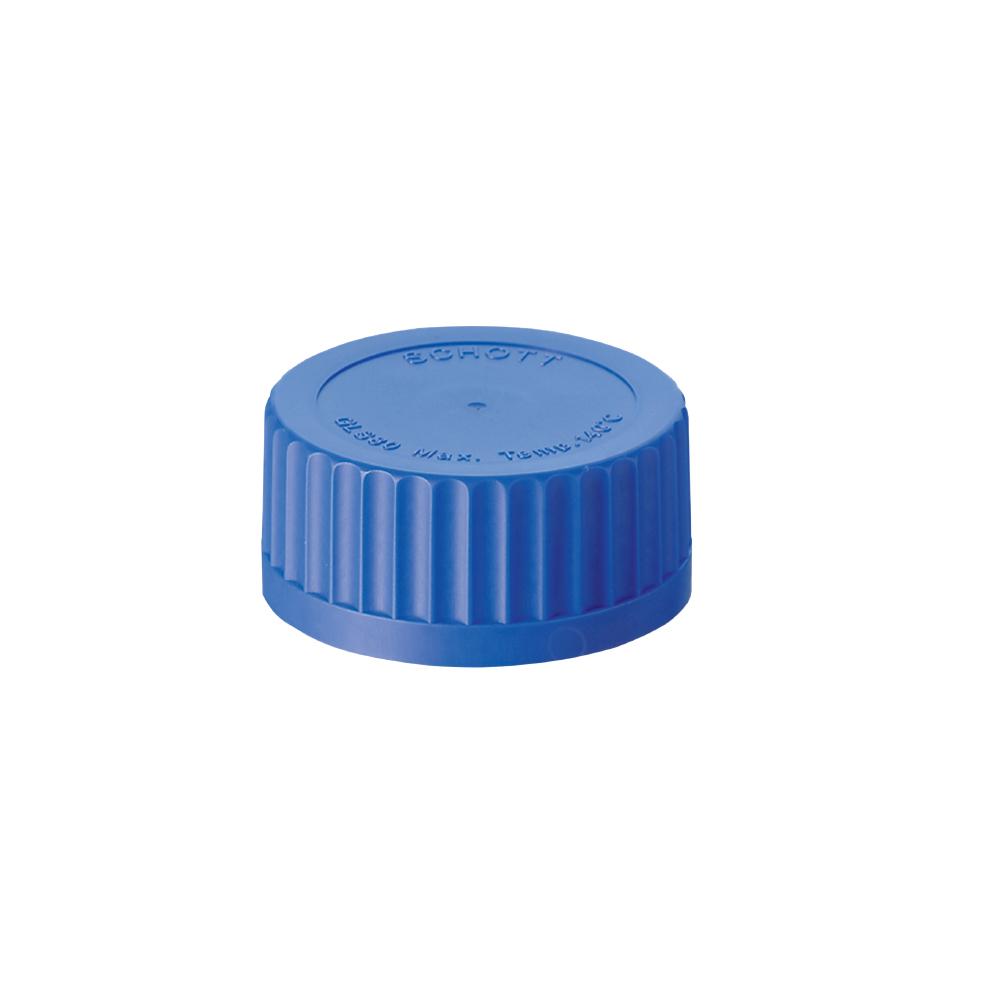 Niebieskie zakrętki, gwint GL 45 (do +140°C)