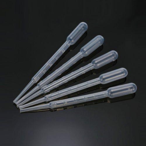 Pipety Pasteura 3 ml (+ pojemność bańki ssącej 4 ml)
