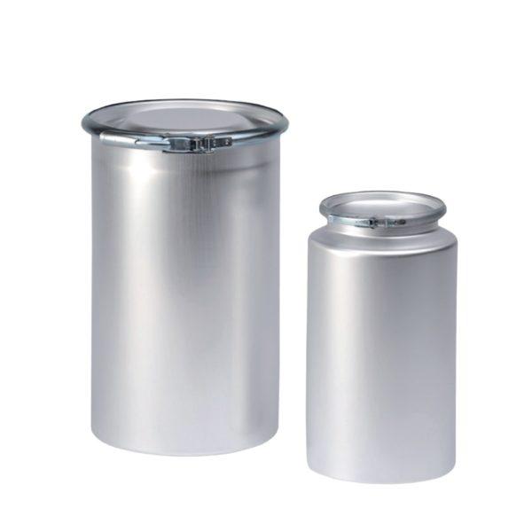 Pojemniki aluminiowe z szeroką szyją