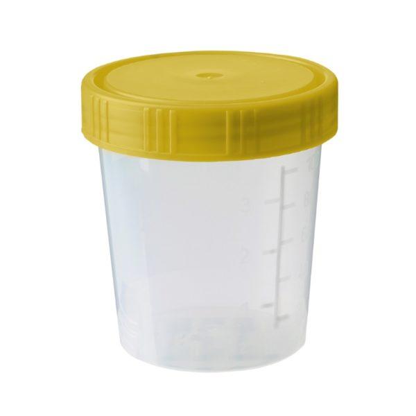 Pojemniki z PP z gwintowaną pokrywką - sterylne (R) - pak. indywidualnie