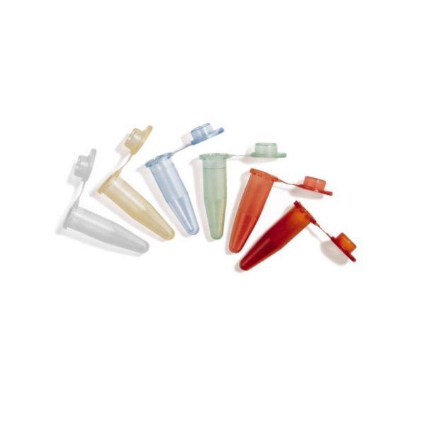 Probówki reakcyjne z pokrywką, podziałką i polem do opisu - 1,5 ml - kolorowe - Brand