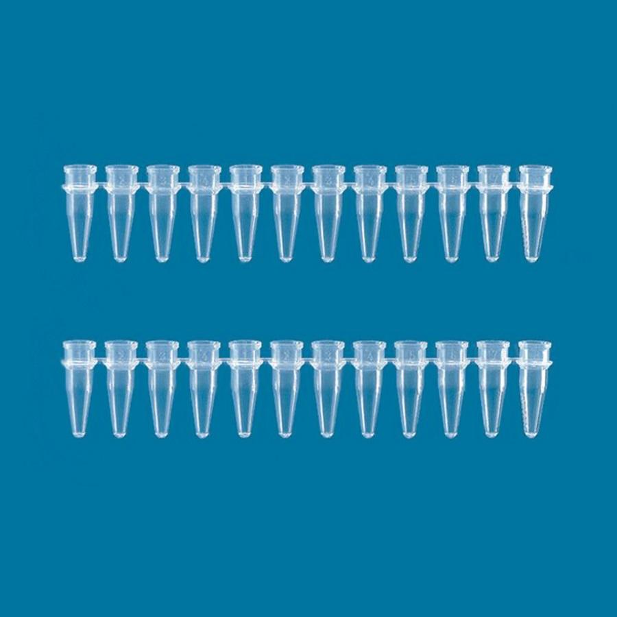 Probówki w paskach 12-stanowiskowych, poj. 0,2 ml, bez zatyczek - Brand