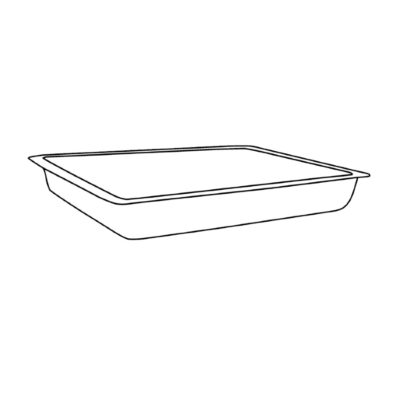 Prostokątna miska ze stali szlachetnej 24 x 16 x 4,5 cm (zew.)