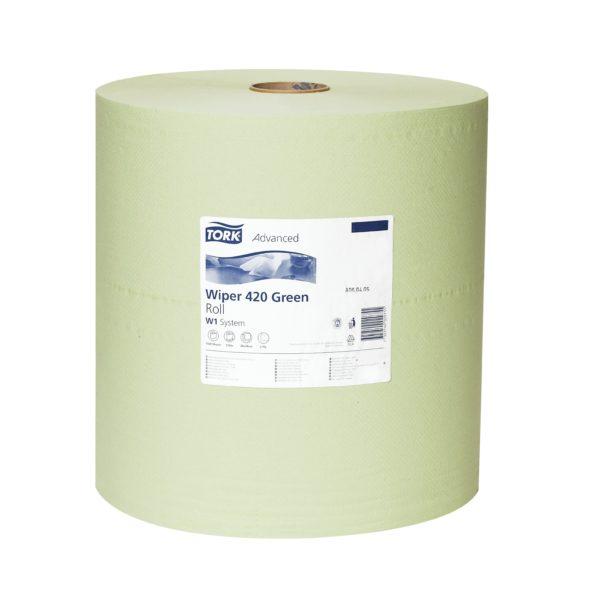 Ręczniki czyszczące zielone, rolka o wym. 38 x 40 cm (dł. x szer.); 1 rolka 570 m w opak.