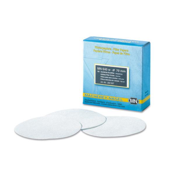 Sączki filtracyjne z bibuły - typ 640 d