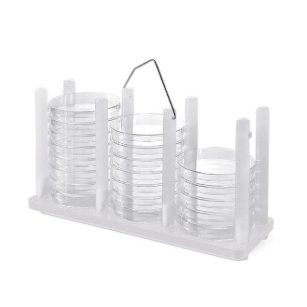 Statywy na szalki Petriego - z uchwytem - bezbarwny - 1