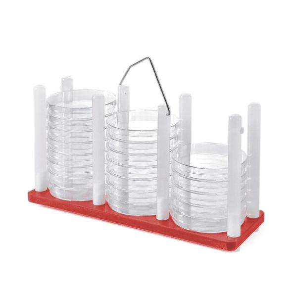 Statywy na szalki Petriego - z uchwytem - czerwony - 1