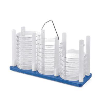 Statywy na szalki Petriego - z uchwytem - niebieski - 1