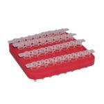 Statywy pływające na probówki PCR - b-3572 - statywy-plywajace - prostokatny - w-paskach-8-miejsc - 4-x-8 - 80-x-80-x-85-mm - 10-szt