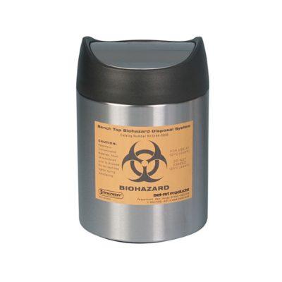 Stołowy pojemnik na odpady Biohazard