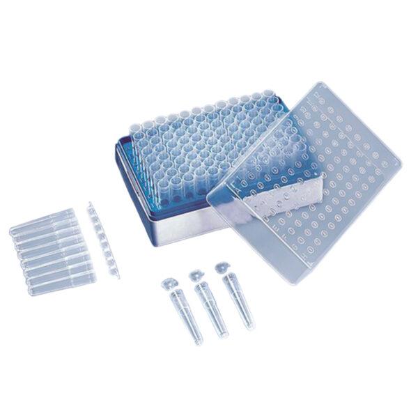System do przechowywania i transportu próbek (probówki o poj. 1,2 ml i statywy na 96 próbek) - Brand