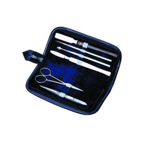 Sześcioczęściowy zestaw narzędzi preparacyjnych w etui