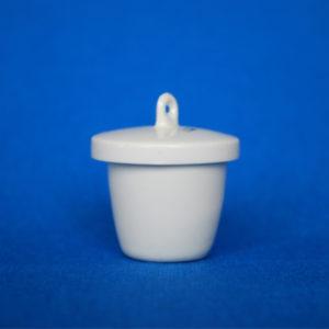 Tygiel porcelanowy z przykrywką