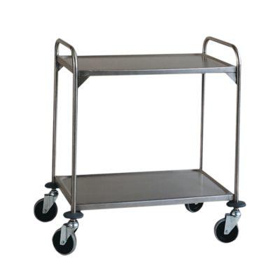 Wózek transportowy ze stali szlachetnej, 2 piętrowy