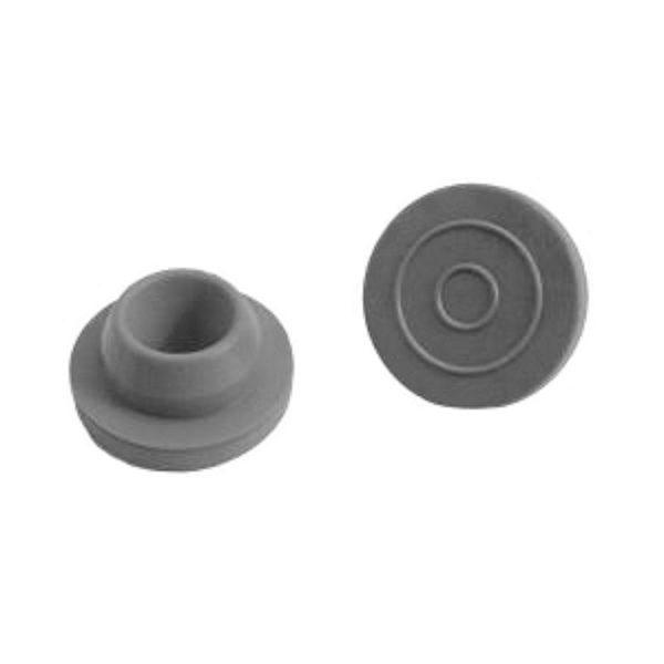 Zatyczki butylowe - okrągłe - szare