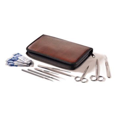 Zestaw narzędzi preparacyjnych w etui