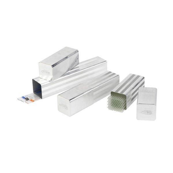 Aluminiowe puszki na pipety, kwadratowe
