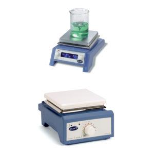 Analogowe płyty grzejne Stuart US 150 i UC 150 oraz cyfrowa SD 160