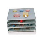 Czteropiętrowa platforma do wytrząsarek GFL 3011, 3012, 3013, 3014 - k-1615 - czteropietrowa-platforma-odstep-miedzy-poziomami-60-mm