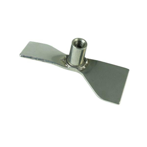Dla prętów - średnica 6 mm łopatka prosta, sztywna 50 mm