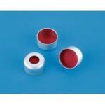 Kapsle z septą 11 mm z przezroczystego PTFE/czerwonej gumy - Agilent - 5181-1210 - kapsle-z-septa-z-przezroczystego-ptfeczerwonej-gumy-aluminiowe-kolor-srebrny-100-szt