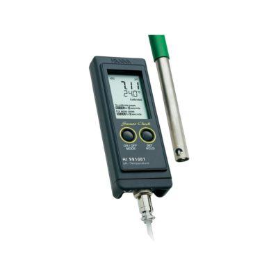 Kieszonkowy pH-metr-termometr HI 991001 (firmy Hanna Instruments)