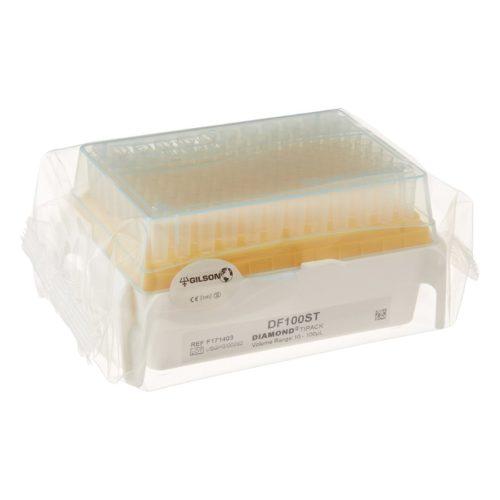 Końcówki z filtrem Diamond Rocky Rack - model DF100 - 10-100 µl - niesterylne - Gilson