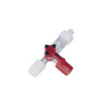Kraniki z przyłączami typu Luer, poliwęglanowe - 2-6351 - kranik-3-drozny-z-poliweglanu-rys-2 - 2-luer-lock-zenski-1-luer-lock-meski