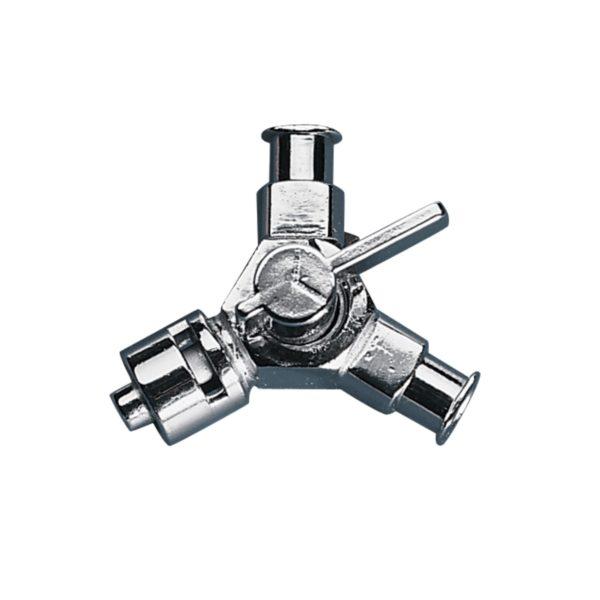 Kranik metalowy z przyłączami Luer-Lock - 2-6285