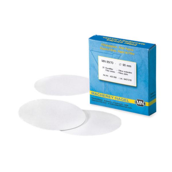 Okrągłe filtry z włókna szklanego - typ 85/70