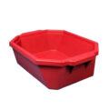 Pojemnik izolacyjny na lód, bez pokrywy - l-0017 - pojemnik-izolacyjny-na-lod-bez-pokrywy - 9-l - czerwony - 490-x-370-x-140-mm