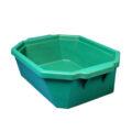 Pojemnik izolacyjny na lód, bez pokrywy - l-0016 - pojemnik-izolacyjny-na-lod-bez-pokrywy - 9-l - zielony - 490-x-370-x-140-mm