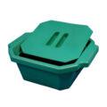 Pojemnik izolacyjny na lód, z pokrywą - l-0020 - pojemnik-izolacyjny-na-lod-z-pokrywa - 25-l-2 - zielony - 330-x-280-x-122-mm