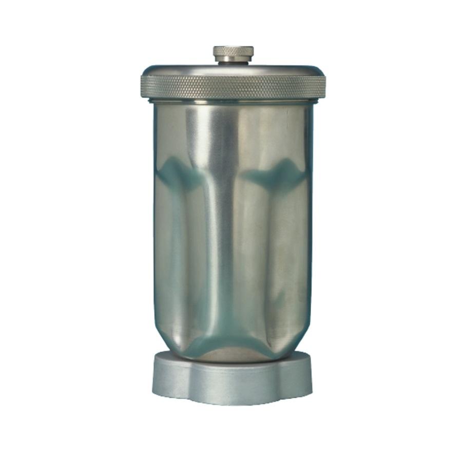 Pojemnik ze stali szlach. 1 l, z pokrywką z gwintem śrubowym oraz zestawem noży
