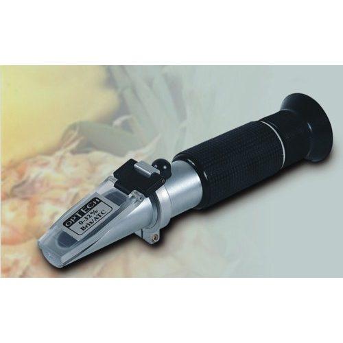 Refraktometr ręczny do pomiaru zawartości cukru, 0-32% Brix-ATC