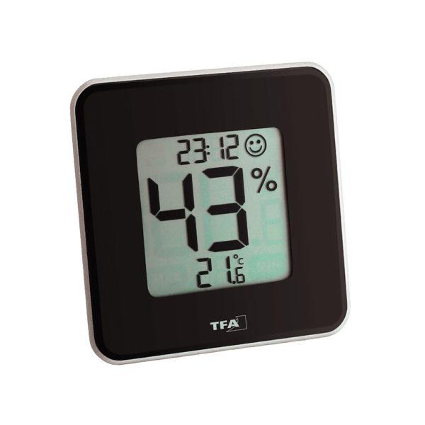 Termohigrometr z zegarem TFA