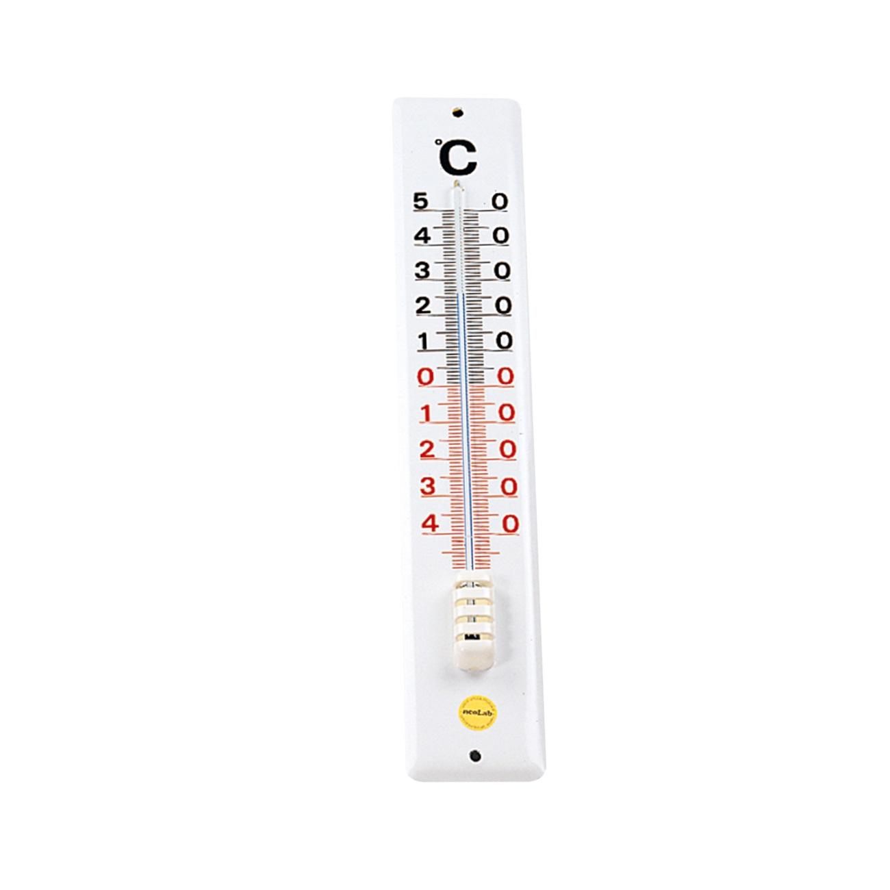 Termometr ścienny 400 x 70 mm