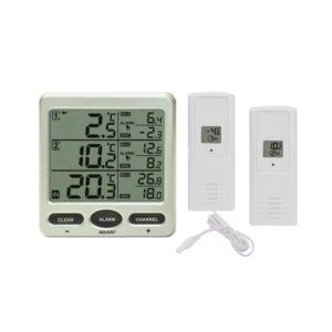 Termometr cyfrowy z dwoma zewnętrznymi czujnikami bezprzewodowymi
