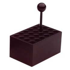 Aluminiowy blok grzejny 24 stanowiska, Ø 10 mm (probówki 1,5 - 2 ml)