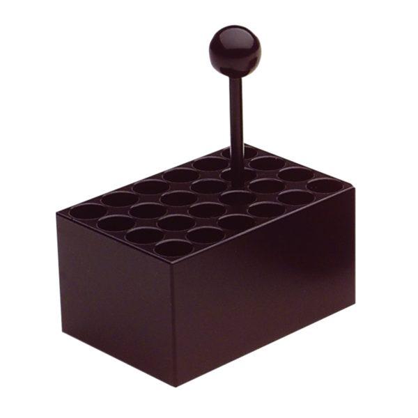 Aluminiowy blok grzejny, 24 stanowiska, Ø 6 mm