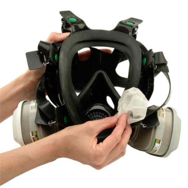 Dezynfekujące chusteczki do czyszczenia maski ochronnej, opak. 10 szt.-02