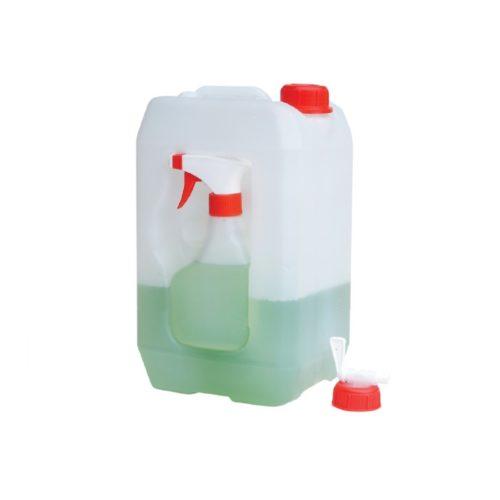 Kanister ze zintegrowaną butelką z rozpylaczem