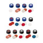 Nakrętki gwintowane ND9, krótki gwint, z septą - 7-0700 - nakretki-gwintowane-nd9-krotki-gwint - silikon-bialyptfe-niebieski-z-nacieciem - czerwony - 55-shore-a - 100-szt