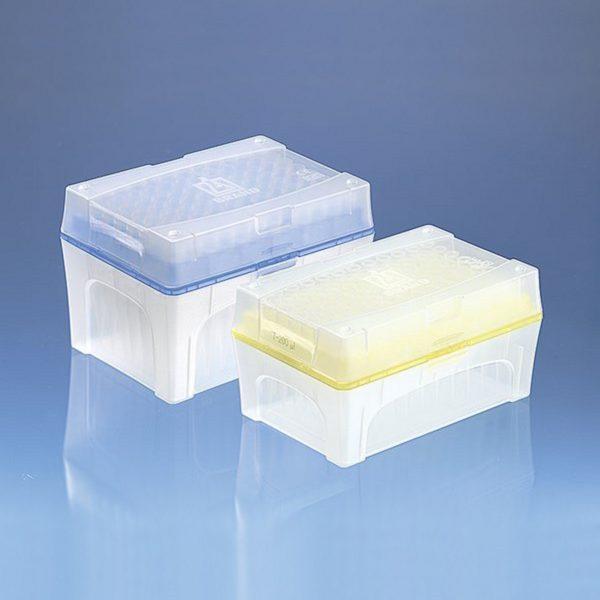 Oryginalne końcówki do pipet, z filtrem, w pudełkach Tip Box - Brand