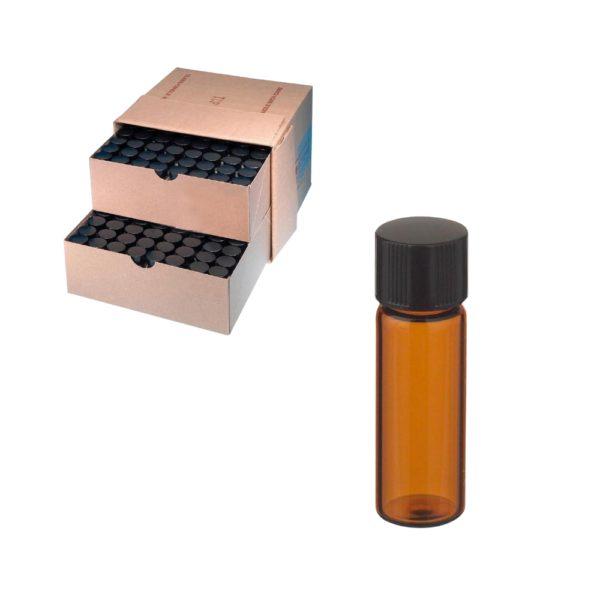 Fiolki Wheaton z brązowego szkła, z zakrętką i gumową wkładką - 2 ml-1