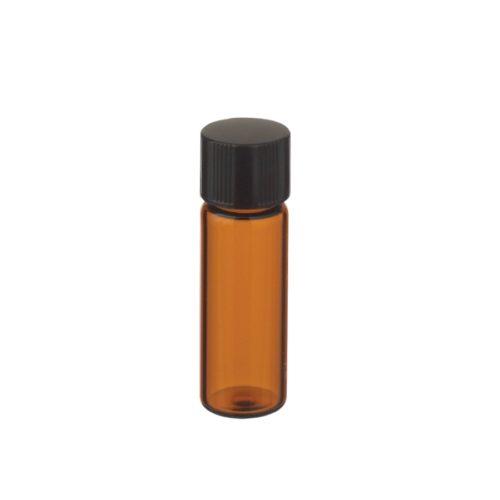 Fiolki Wheaton z brązowego szkła, z zakrętką i gumową wkładką - 2 ml