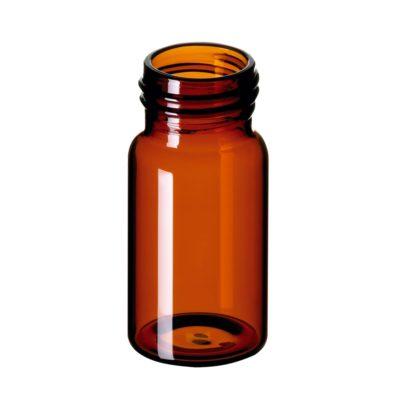 Fiolki gwintowane ND24 wg norm EPA, 20 ml, brązowy