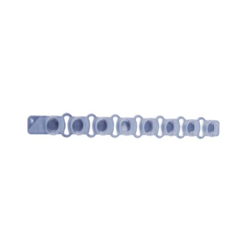 Pokrywki w paskach, 8-stanowiskowe, płaskie Optical Clear