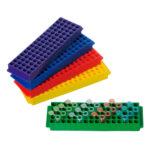 Zestaw statywów 80-miejscowych Top-Rack - b-0350 - zestaw-statywow-top-rack - niebieski-zielony-fioletowy-czerwony-zolty - 5-szt