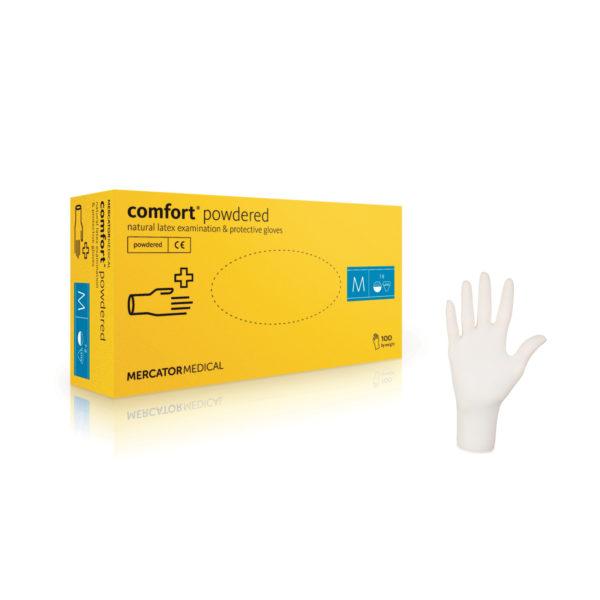 Rękawice lateksowe comfort® powder-free - bezpudrowe